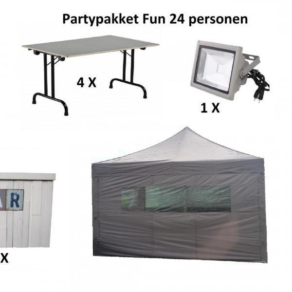Partypakket 'Fun' voor 24 personen